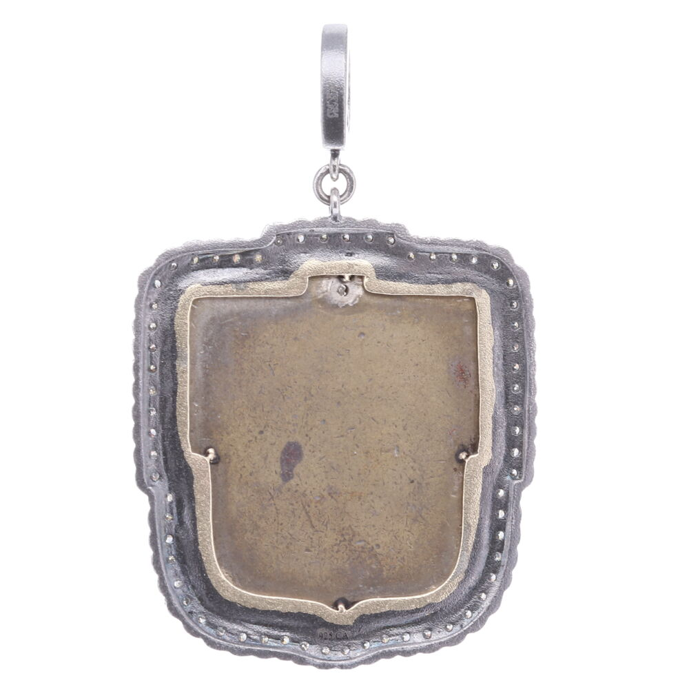 """Image 2 for Antique St. Christopher """"The Gentle Giant in The River"""" Pendant"""