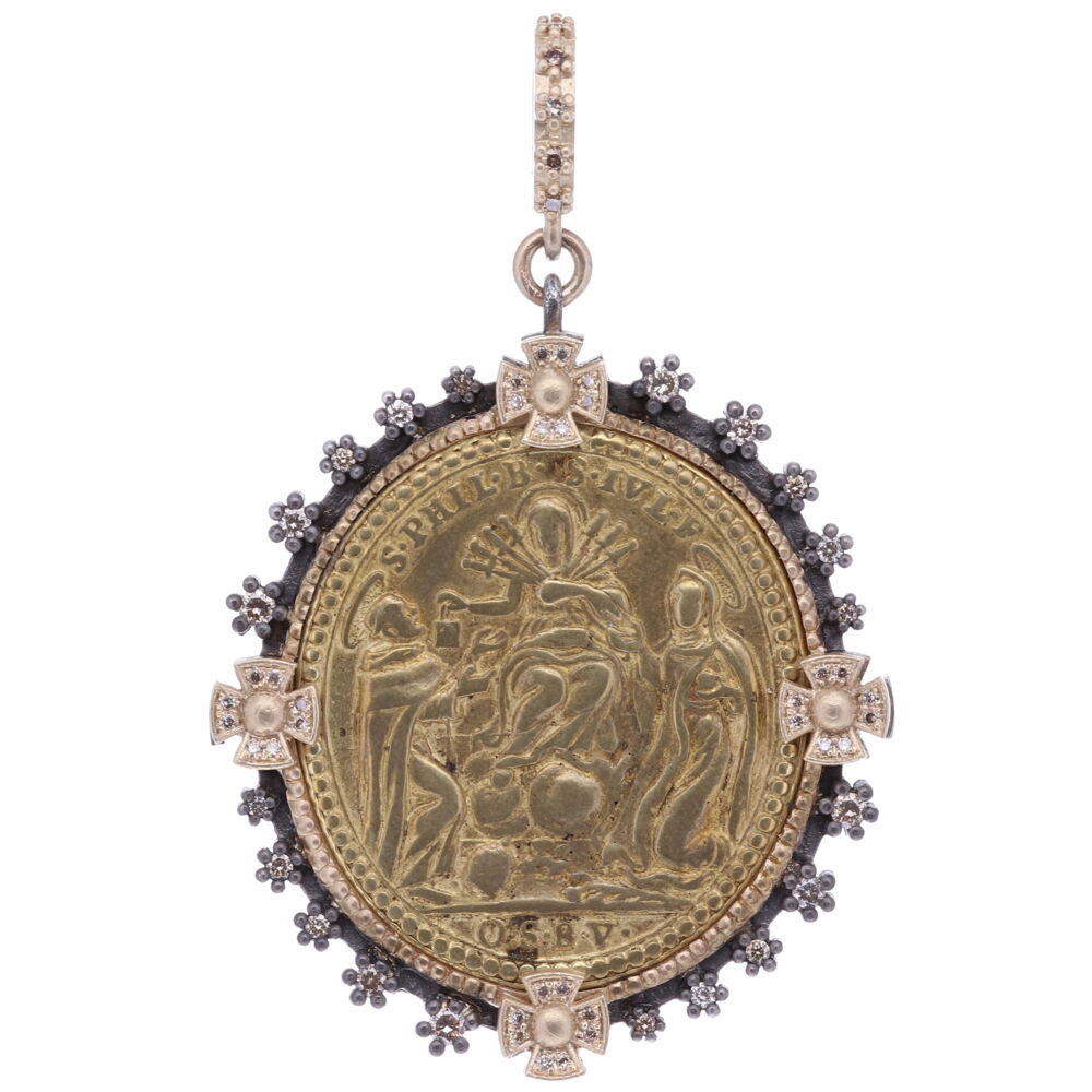 Latin Crucifixion of The Lady of Sorrows Pendant