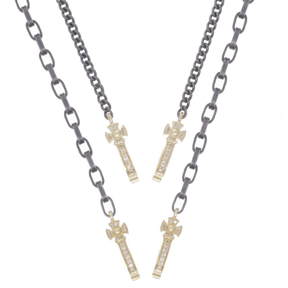 Image 2 for Classic Cross Bale Display Necklace with Open-able Bales