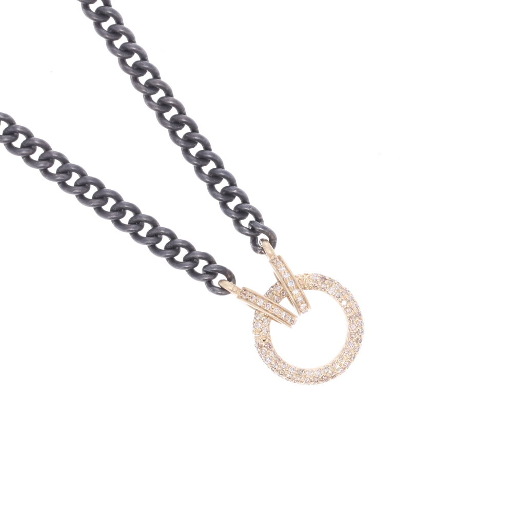 Image 2 for Classic Diamond Ring Display Chain with Open-able Ring