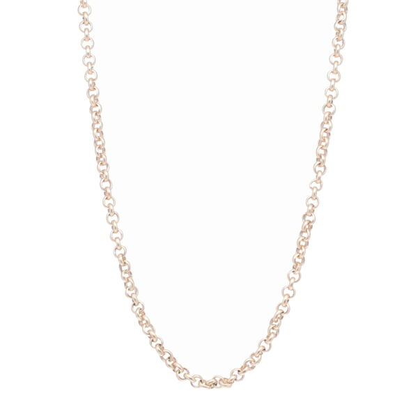"Closeup photo of 30""-32"" 14k Rollo Chain"