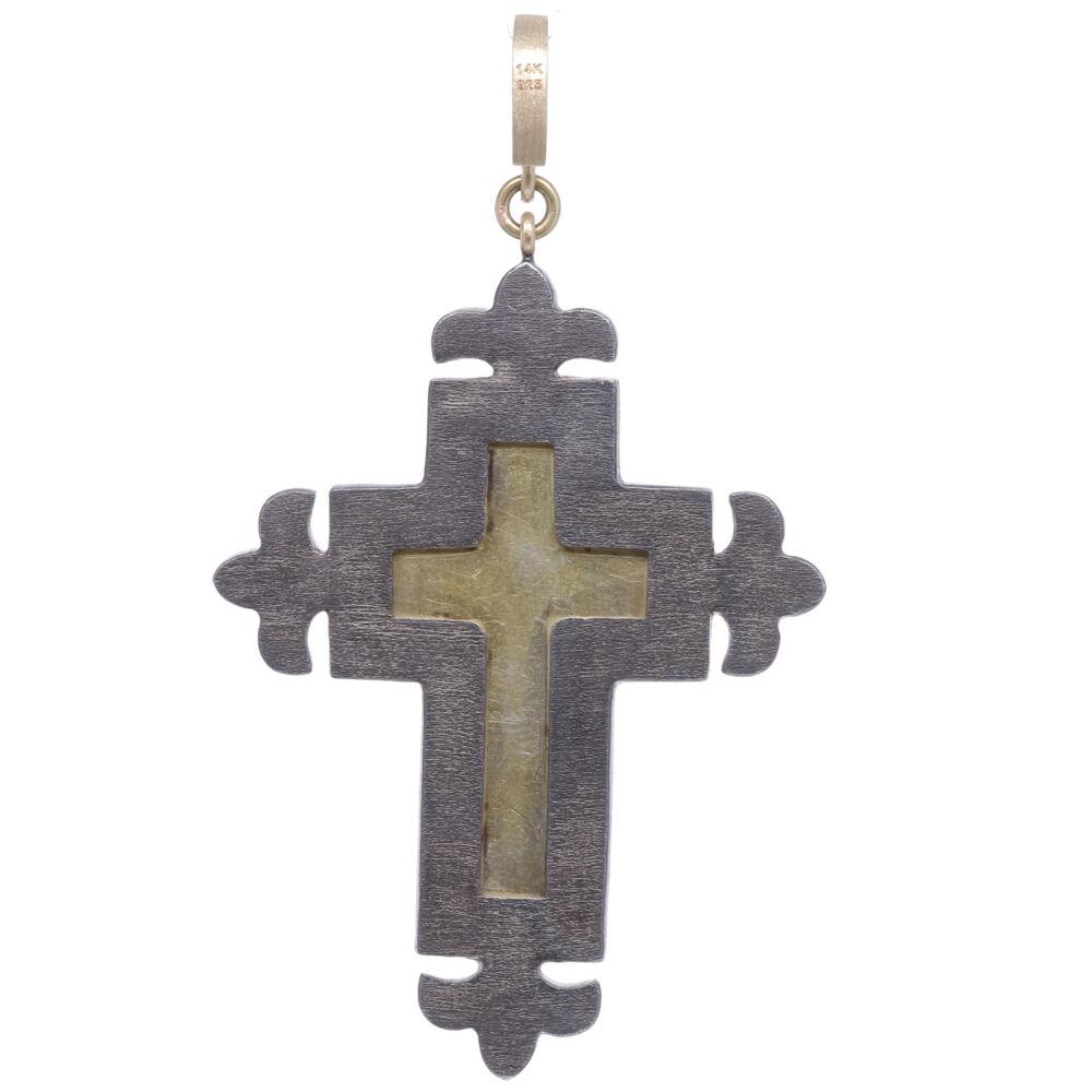 Image 2 for Italian Grand Tour Turquoise Mosaic Cross Pendant