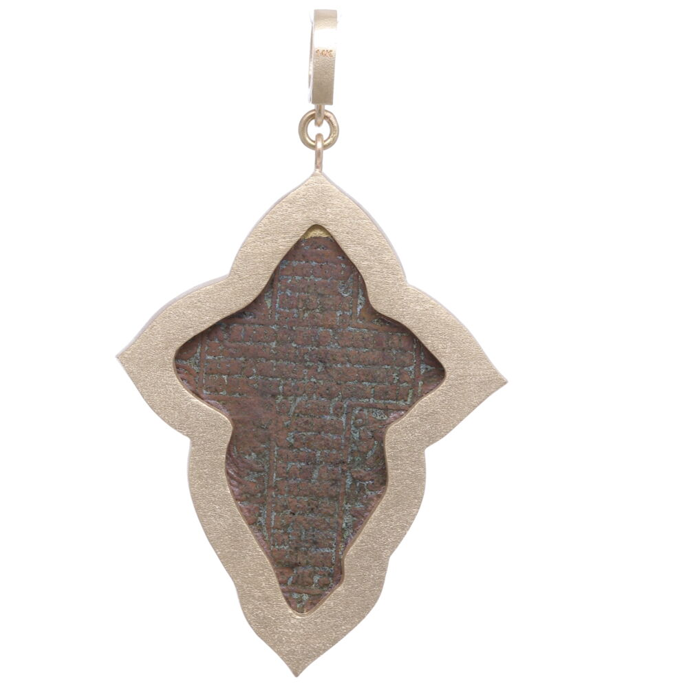 Image 2 for Large Old Believers Cross with Enamel Pendant