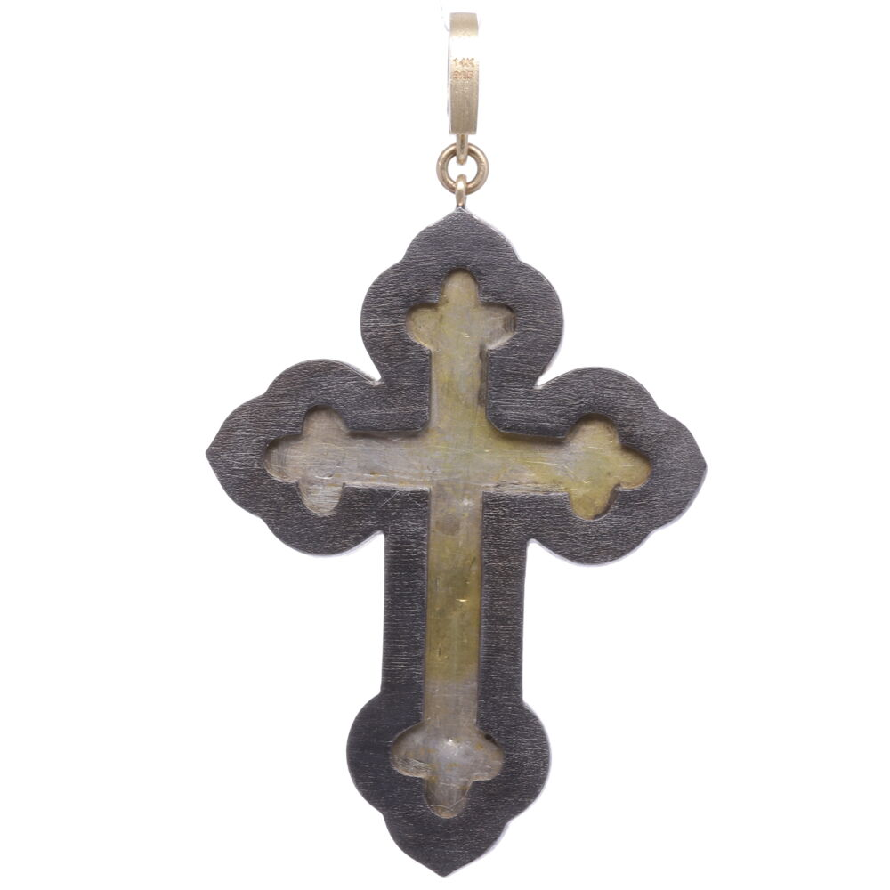Image 2 for Italian Grand Tour Chi Rho Micro Mosaic Cross Pendant