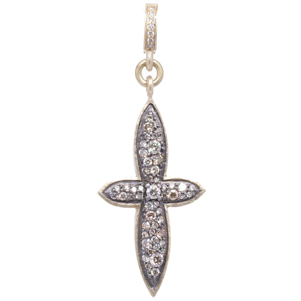 Small Classic Pave Diamond Cross Pendant