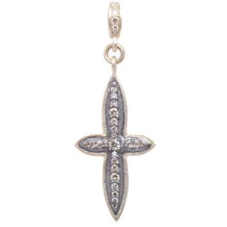 Closeup photo of Small Classic Diamond Cross Pendant