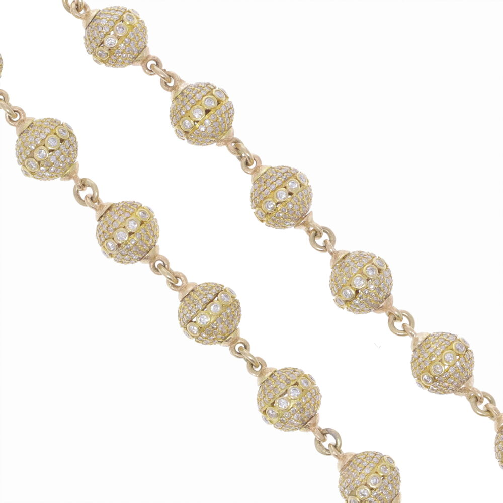 Image 2 for Large Diamond Sphere Link Chain 26""