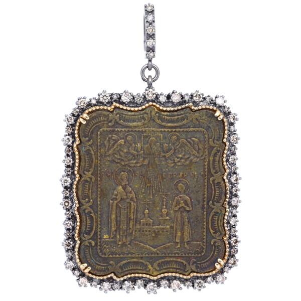 Closeup photo of Ancient Religious Icon