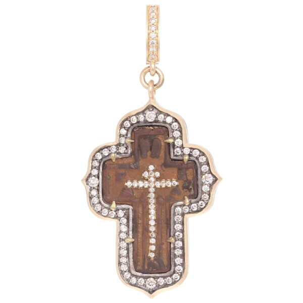 Closeup photo of Ancient Old Believers Male Cross Pendant