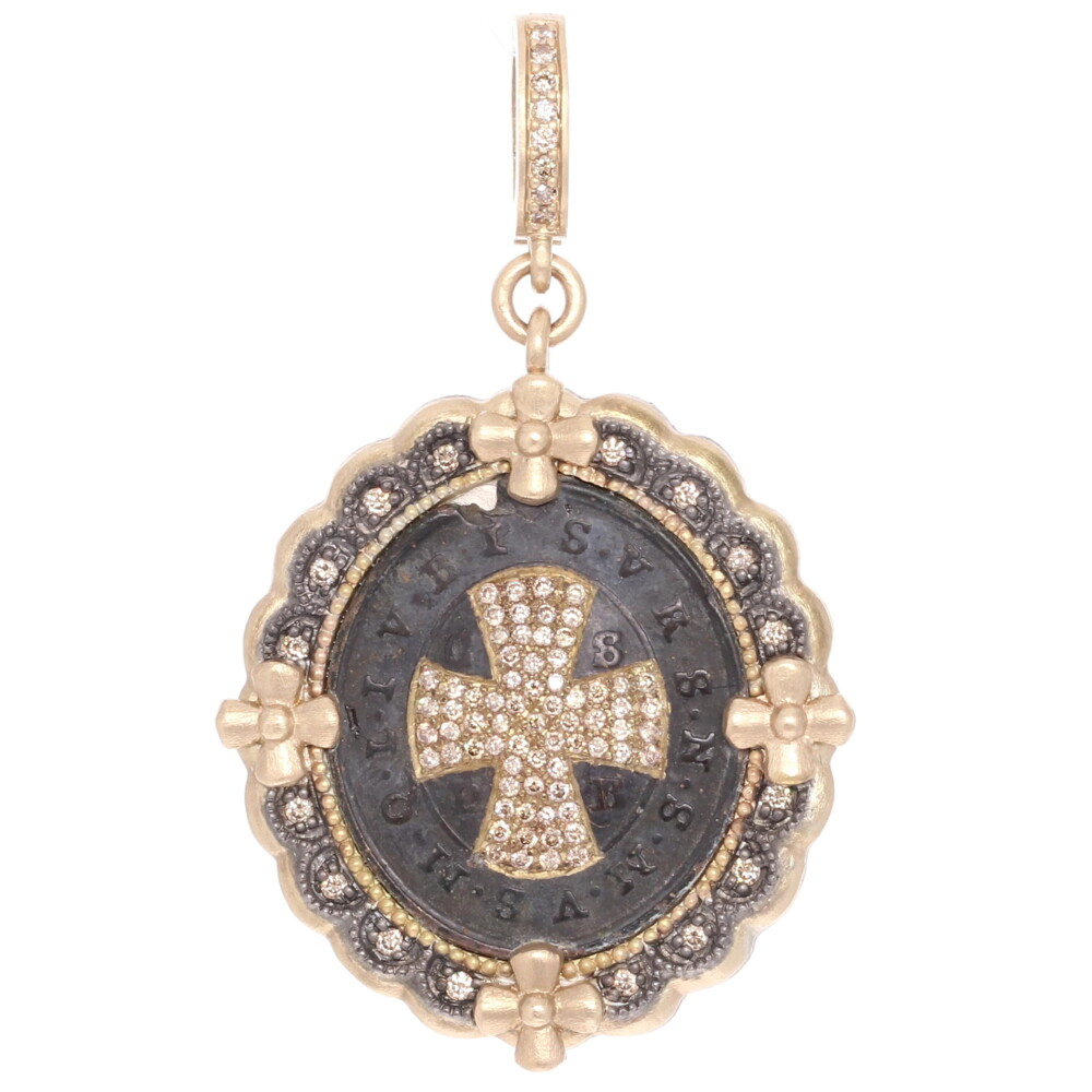 Antique St Benedict Medal Pendant