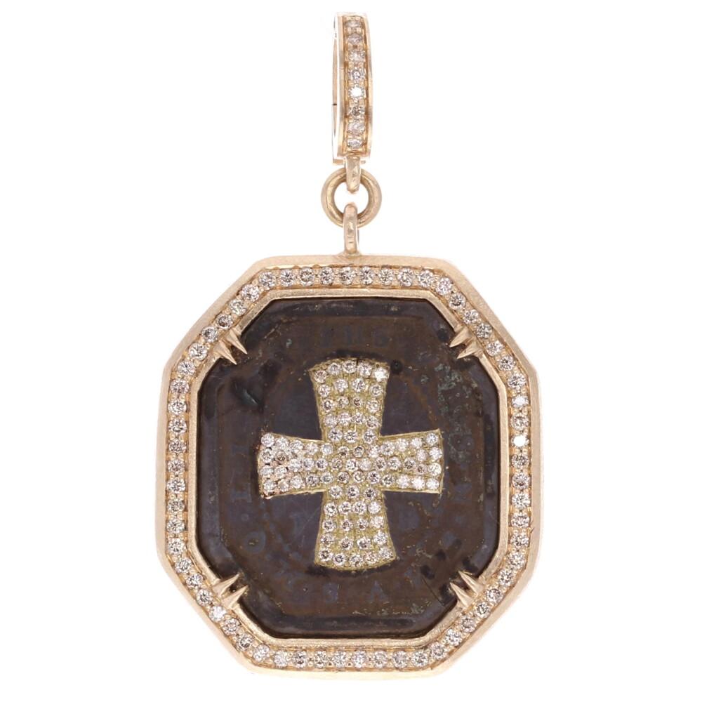 Large Antique St Benedict Medal Pendant