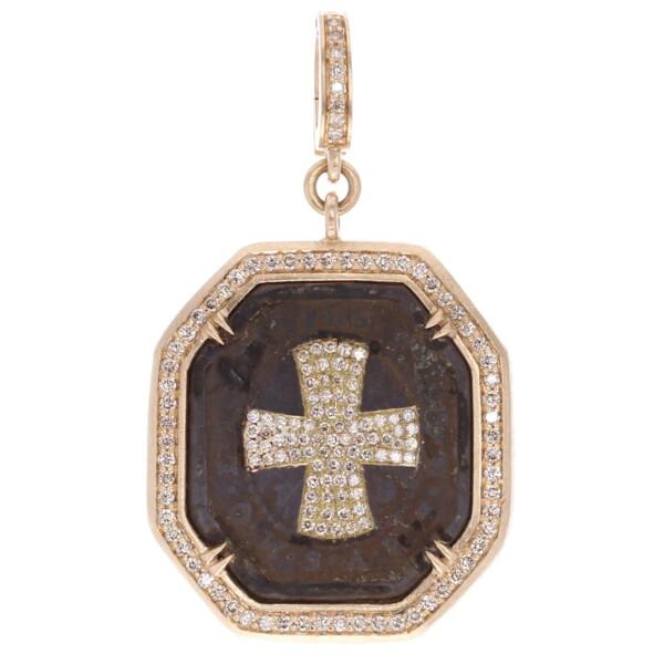 Closeup photo of Large Antique St Benedict Medal Pendant