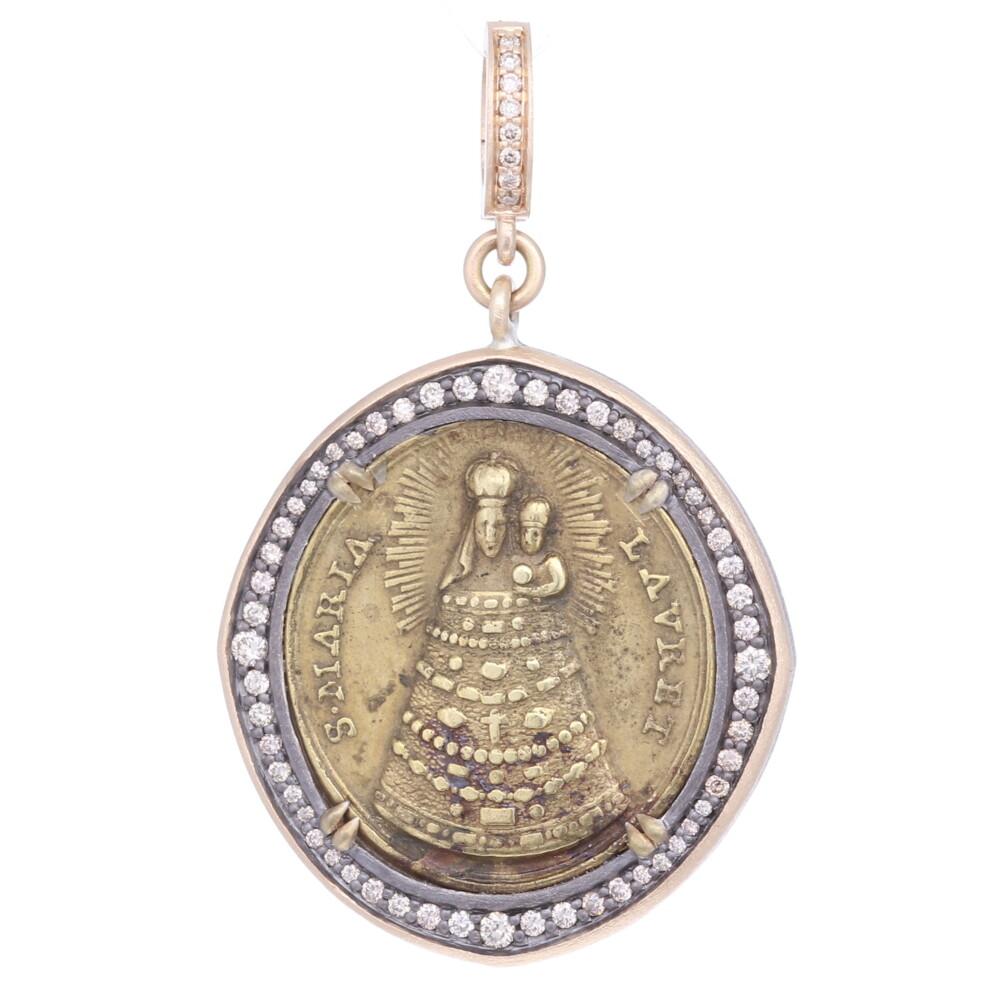 Antique Italian Our Lady of Loreto Pendant