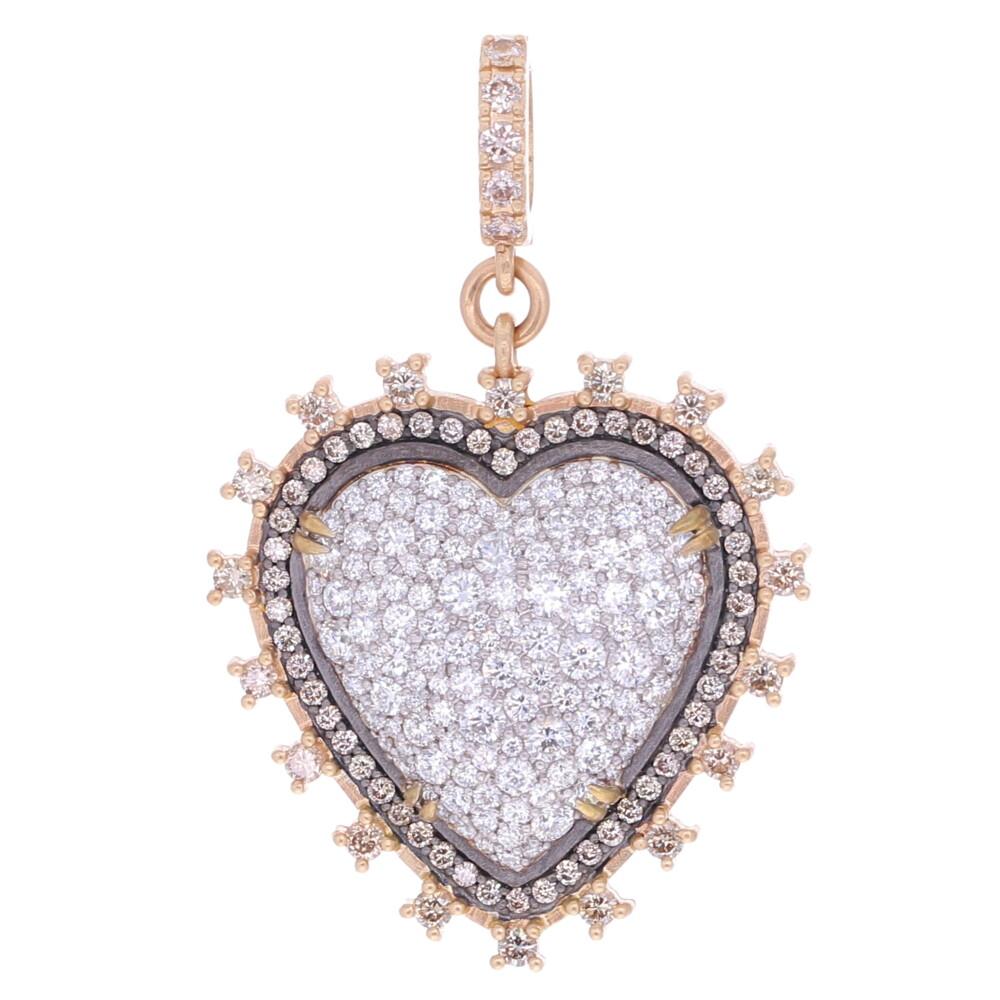 Victorian Style Puffy Heart Pendant