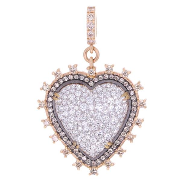 Closeup photo of Victorian Style Puffy Heart Pendant