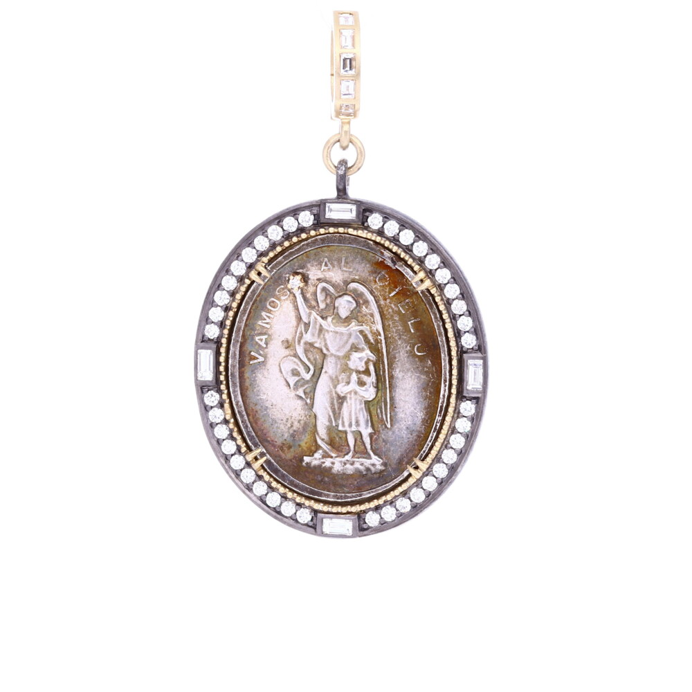 Antique Silver Spanish Guardian Angel