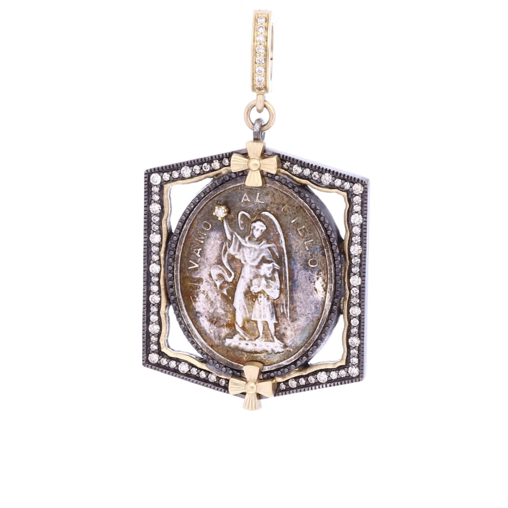 Antique Spanish Silver Guardian Angel