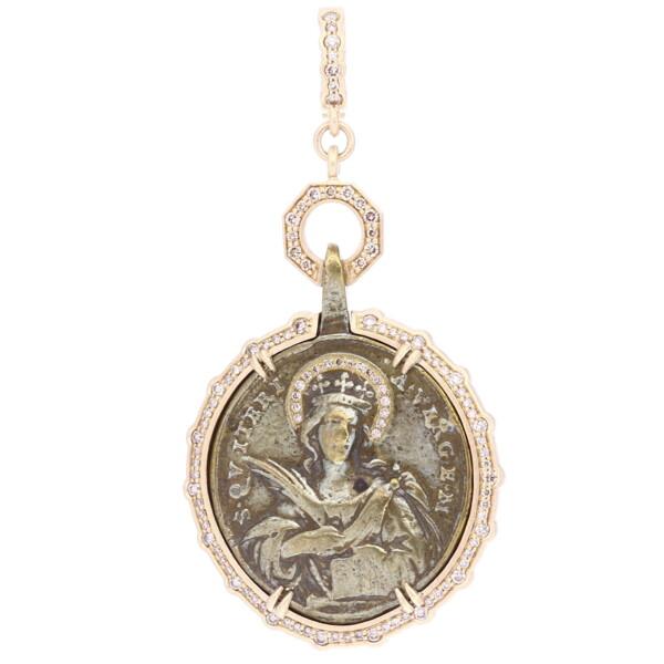 Closeup photo of Antique Vatican Medal