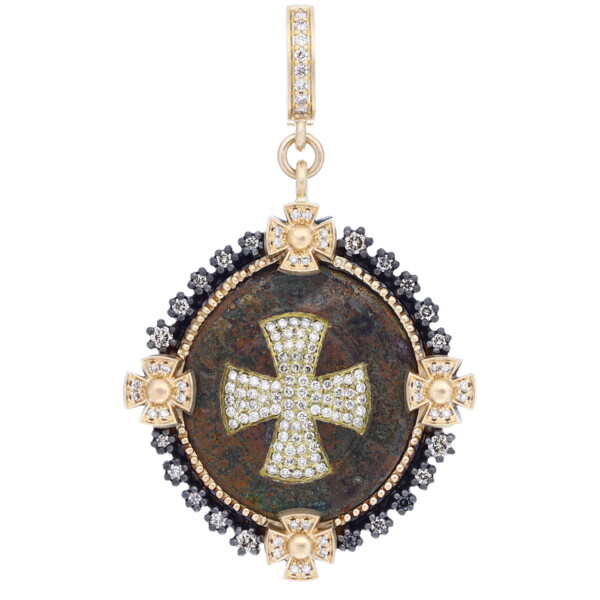Closeup photo of Antique St Benedict Medal