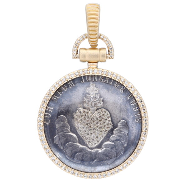 Closeup photo of Antique Sacred Heart w/ Crystal Domed Cover