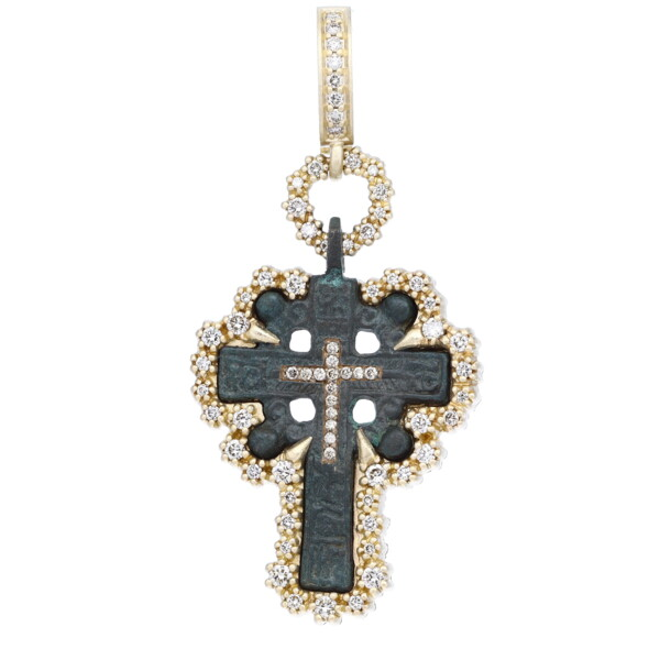 Closeup photo of Ancient Old Believers Cross