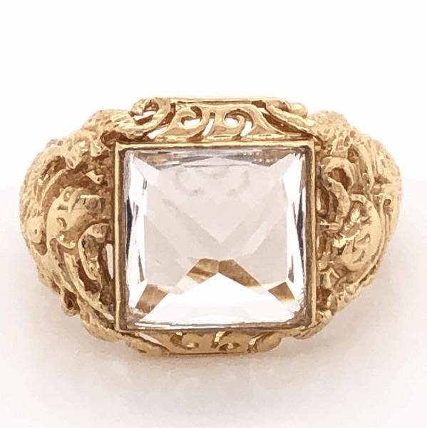Closeup photo of 14K Yellow Gold Sanidine Feldspar Ring 5.6g