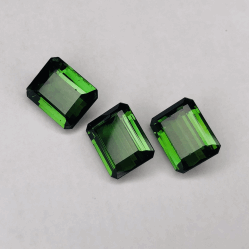 Closeup photo of 3 Loose Green Tourmalines 42.00tcw 17x13mm GORGEOUS COLOR!
