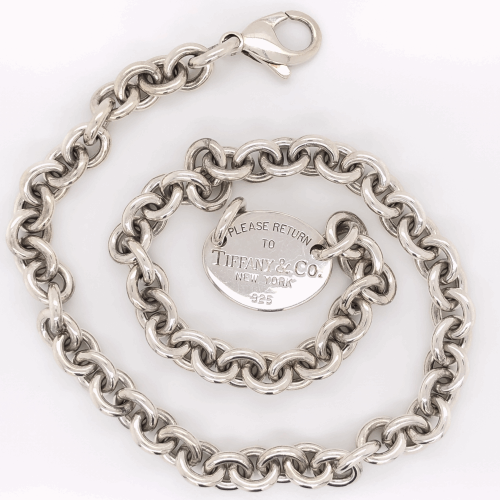 "Image 2 for 925 Sterling TIFFANY & CO ""Please return to Tiffany"" Necklace 56.2g, 15"" Long"