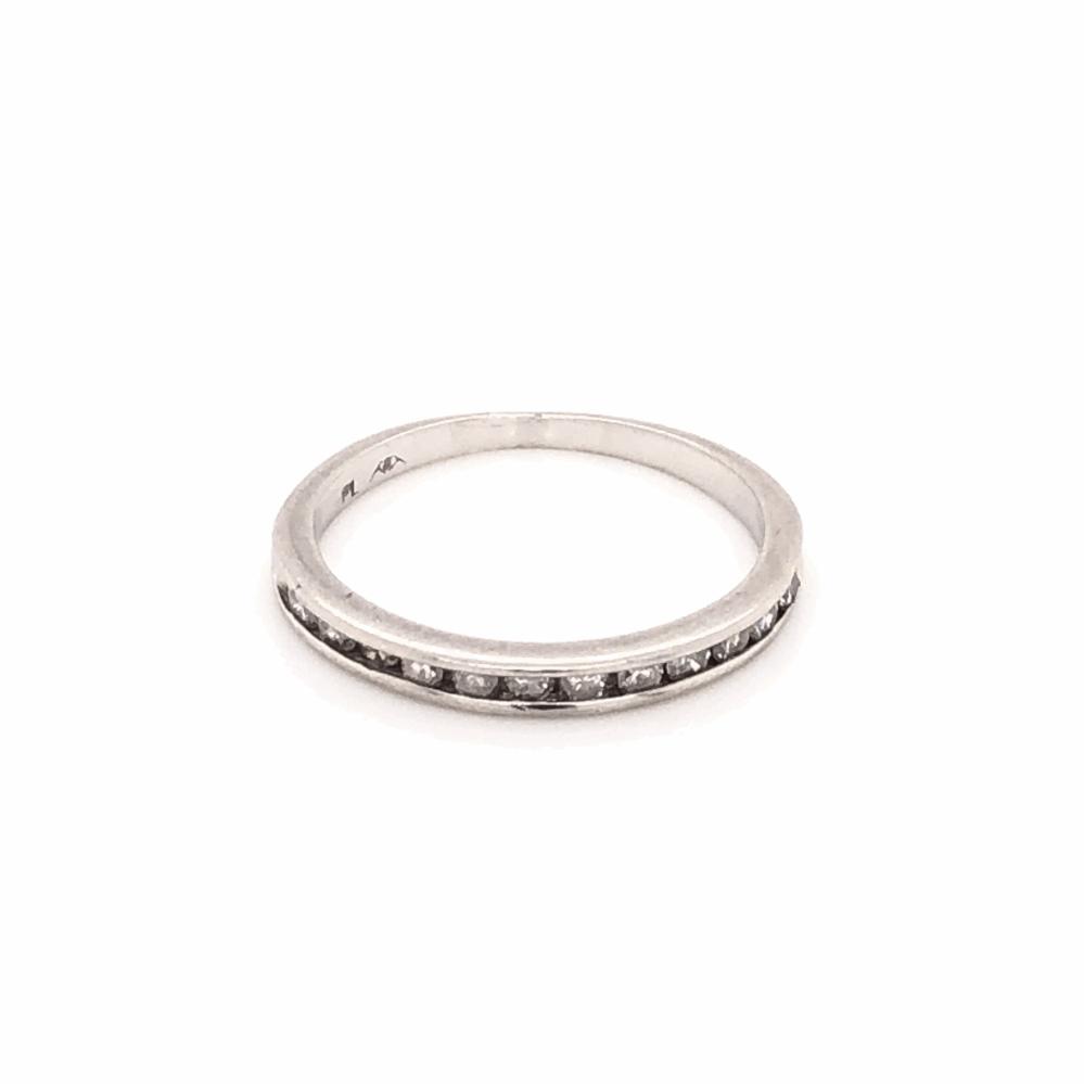 Platinum 12 Diamond Wedding Band Ring .15tcw, 2.1g, s5