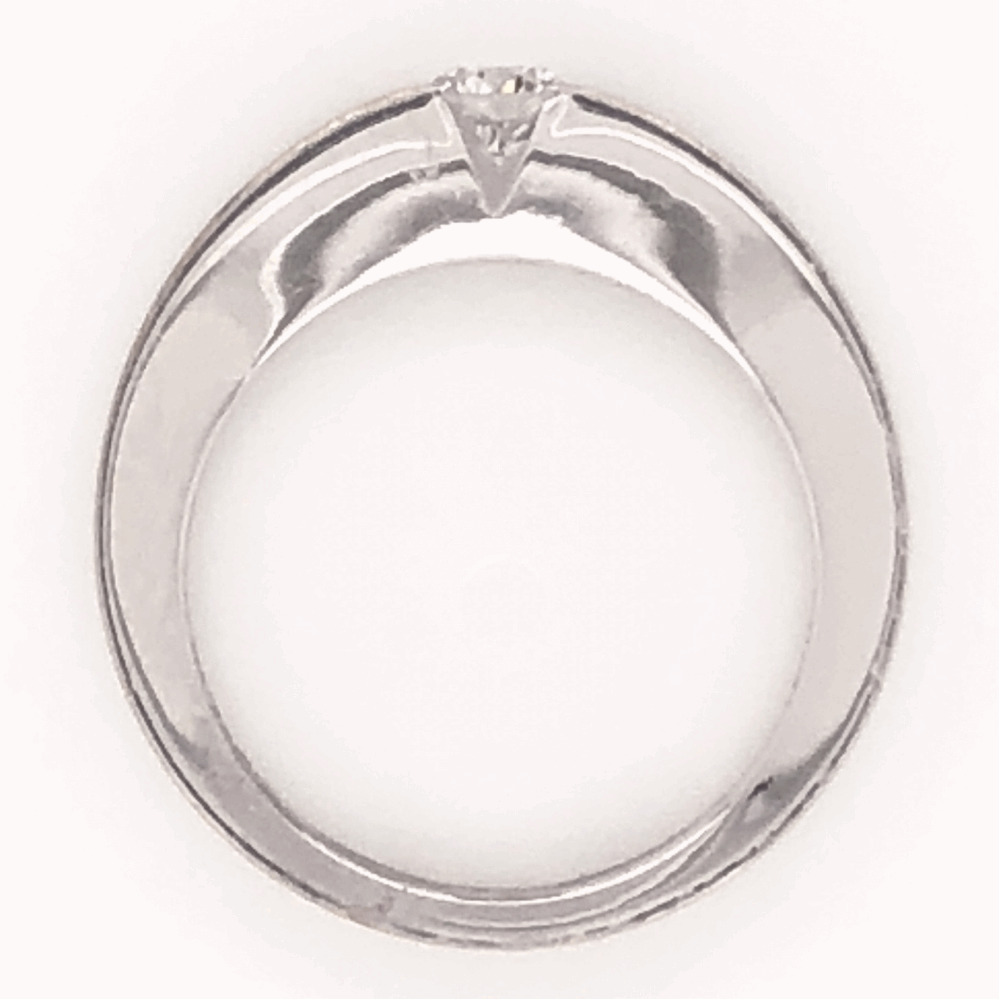 Image 2 for 18K White Gold CARTIER .21ct Round Brilliant Diamond Tension Set Band Ring 4.9g, s5(size 47) C213791
