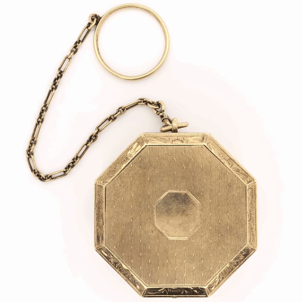 """14K Yellow Gold TIFFANY & CO Personal Octagonal 1 5/8"""" Box with Ring Holder 34.8g"""