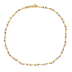 """Closeup image for View 14K Yellow Gold Rope Chain Necklace 3 Diamond Station Necklace .10Tcw 11.4G, 17"""" By Estate"""