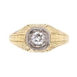 "Closeup image for View 18K Yellow Gold Diamond Horseshoe Buckle Bracelet .50Tcw & 2 Cabochon Sapphires 31.5G, 7"" By Estate"
