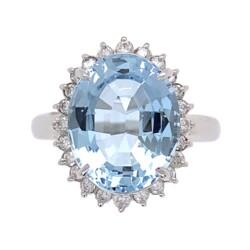 "Closeup image for View 14K White Gold 3.35Tcw Diamonds Eye Glasses Brooch 5.5"" X 2.25"" 10.7G By Estate"