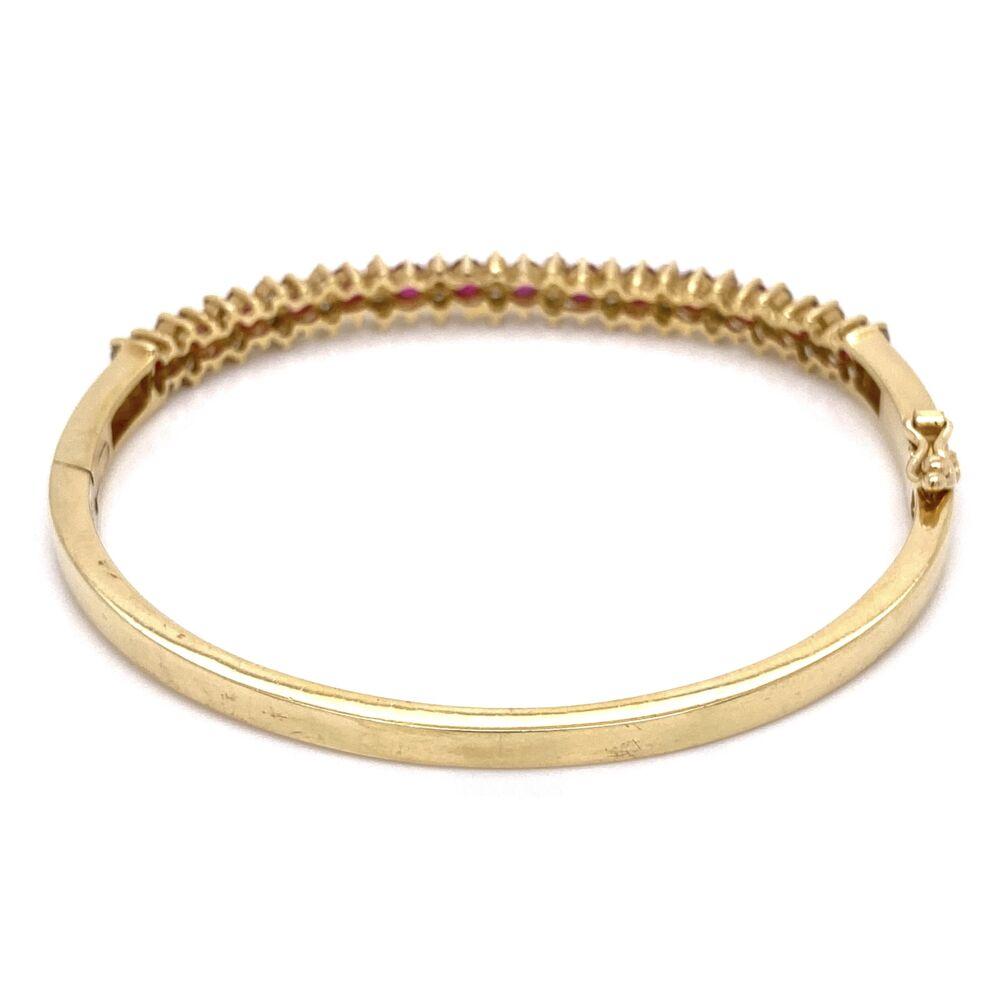 Image 2 for 14K Yellow Gold Bangle Bracelet 14 Ruby 1.42tcw & .90tcw diamonds, 16.5g