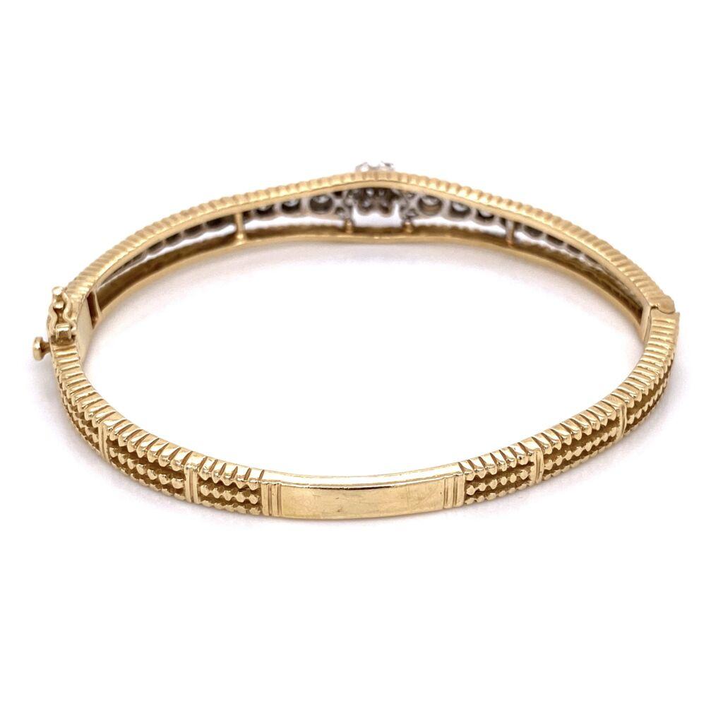 Image 2 for 14K Yellow Gold Marriage Diamond Bangle Bracelet 1.50tcw, 18.4g