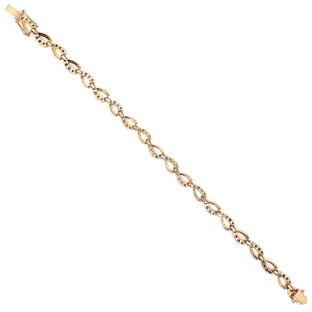 "Image 2 for 14K Yellow Gold Diamond Swirl Bracelet 100 Diamonds are 3.50tcw 14.0g, 7.25"""