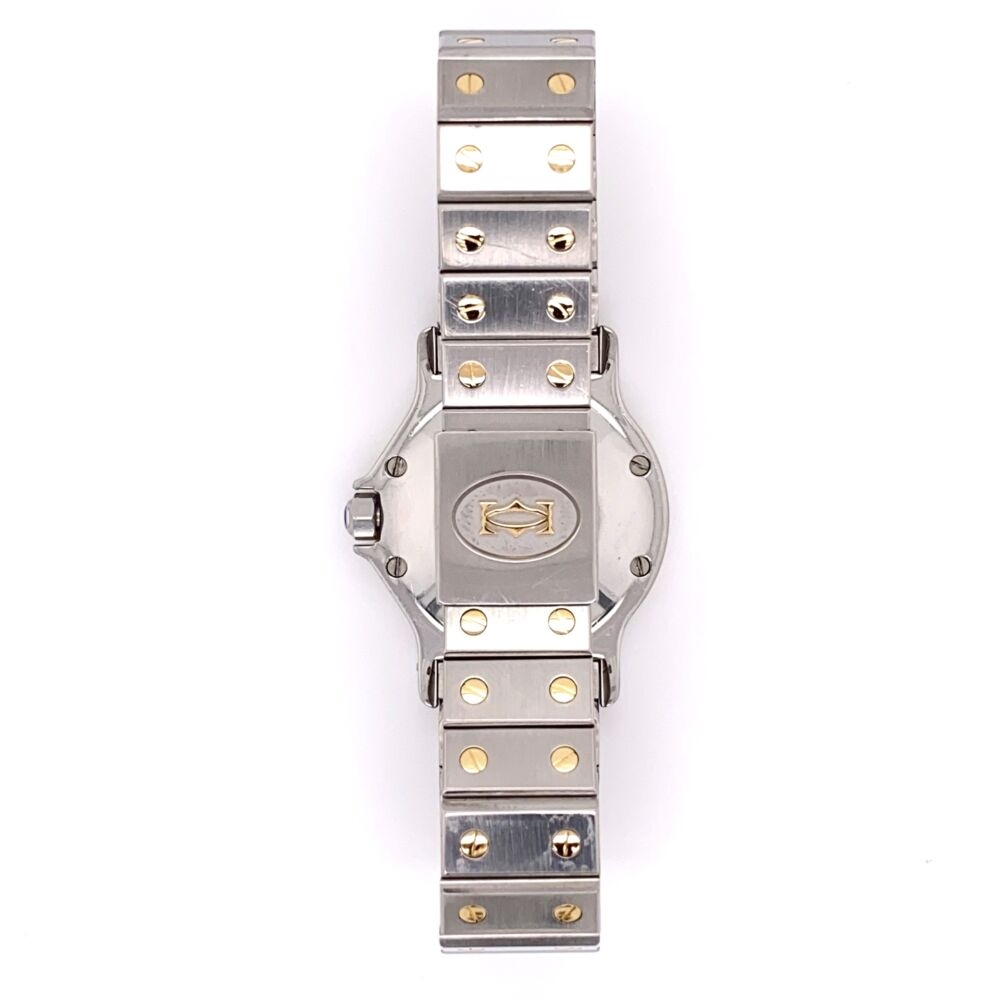 Image 2 for CARTIER SANTOS Octagon Stainless Steel & 18K Yellow Gold 2966 30mm 296632749