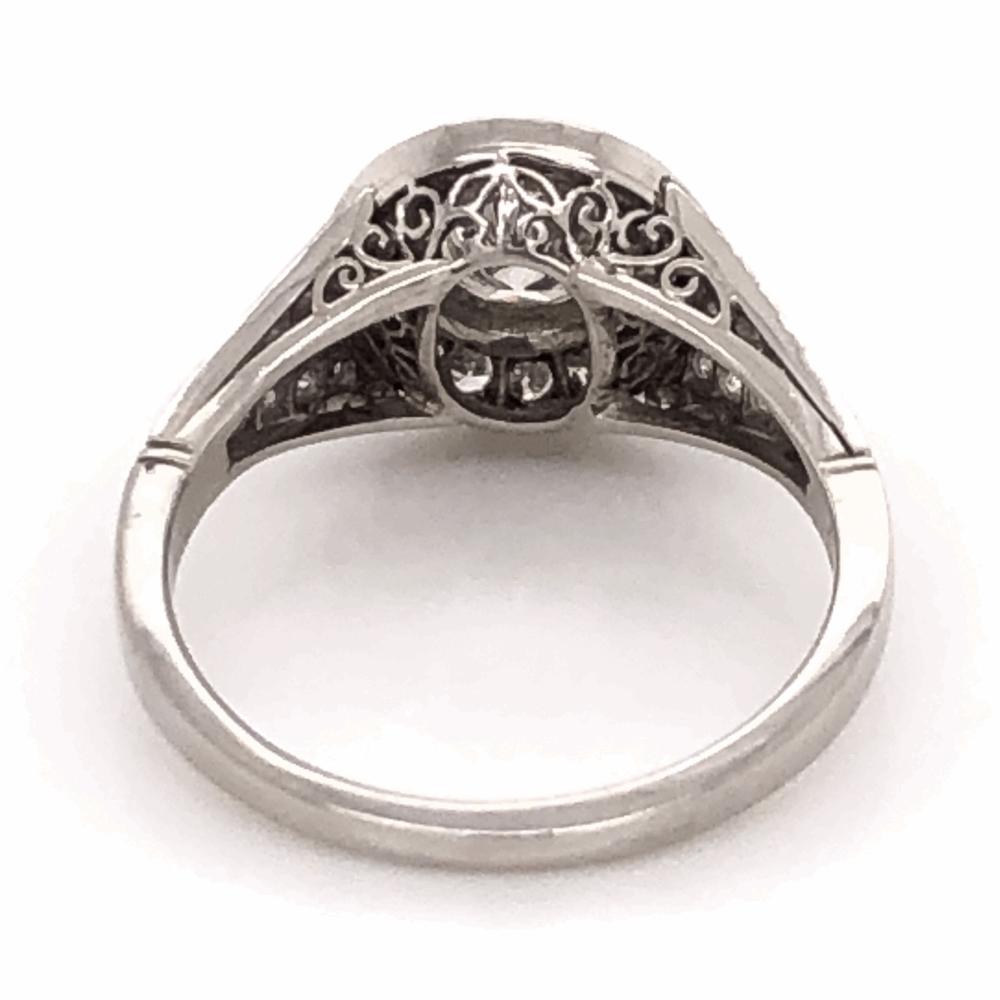 Image 2 for Platinum .60ct Round Diamond & .78tcw side Diamond Ring, s6