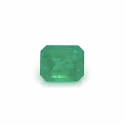 Closeup photo of 4.52ct Emerald Cut Green Emerald 11.33x9.29x6.51mm