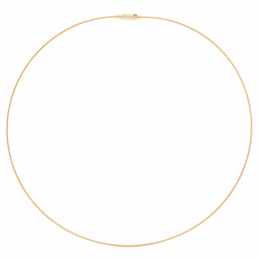14K Yellow Gold Thin Rope Omega Chain 2.2g, 16""