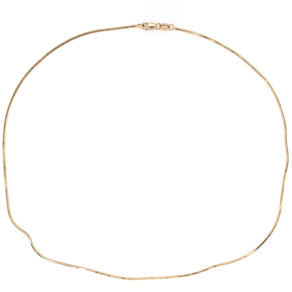 """Image 2 for 14K Yellow Gold Snake Chain 4.8g, 18"""""""