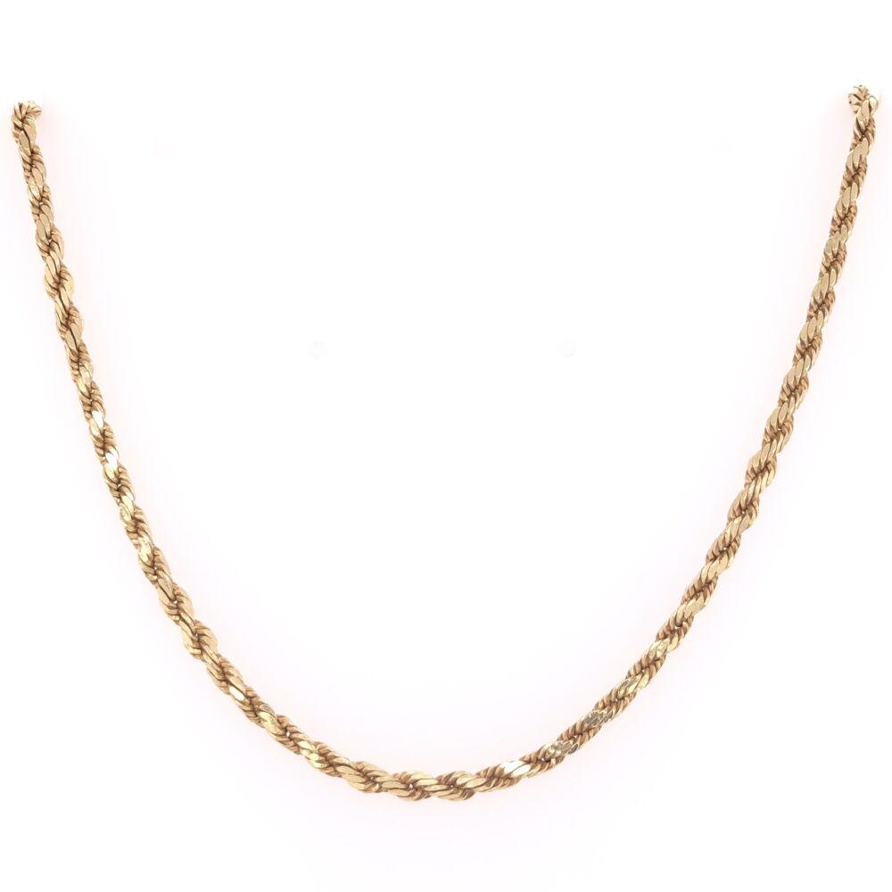 """14K Yellow Gold Rope Chain 5.7g, 18"""""""