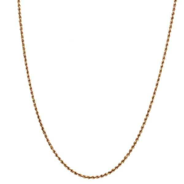 "Closeup photo of 14K Yellow Gold Rope Chain 5.2g, 22"""
