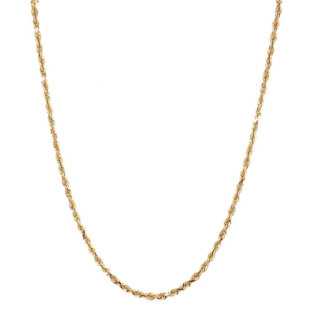 """14K Yellow Gold Rope Chain 4.4g, 19"""""""