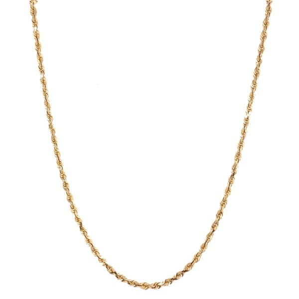 "Closeup photo of 14K Yellow Gold Rope Chain 4.4g, 19"""