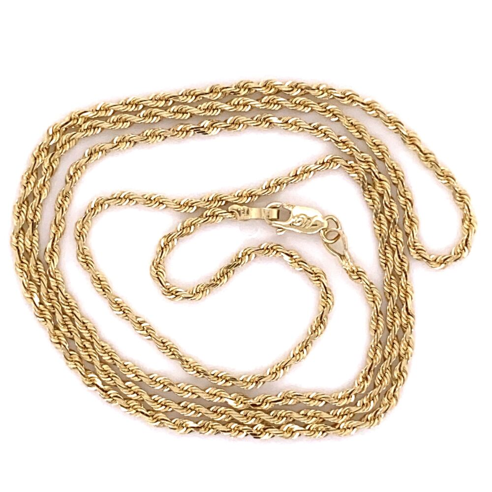 """Image 2 for 14K Yellow Gold Rope Chain 4.4g, 19"""""""