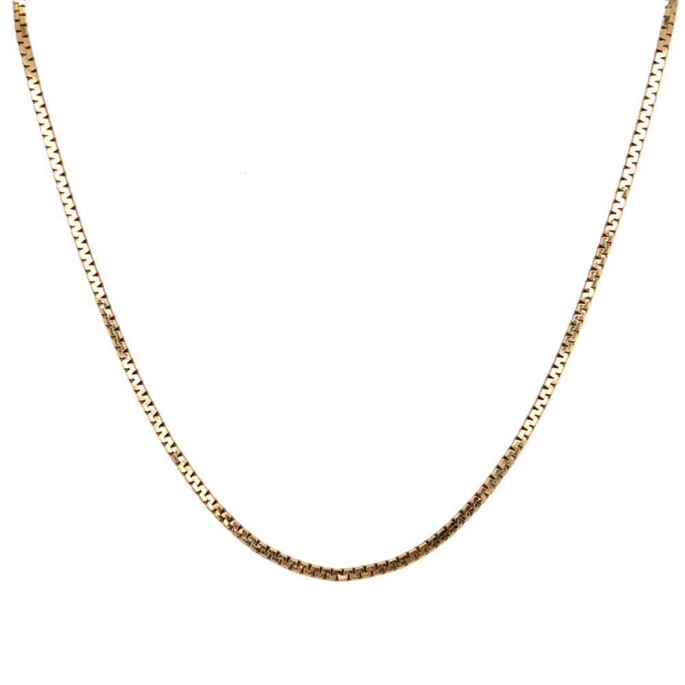 """Image 2 for 14K Yellow Gold Flat Link Chain 4.9g, 20"""""""