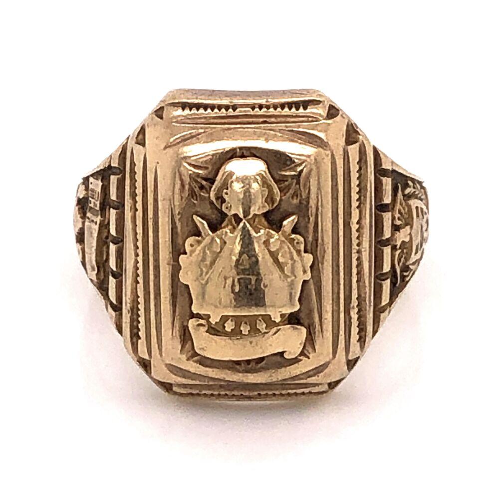 10K Yellow Gold Mens Class Ring 7.9g, s7