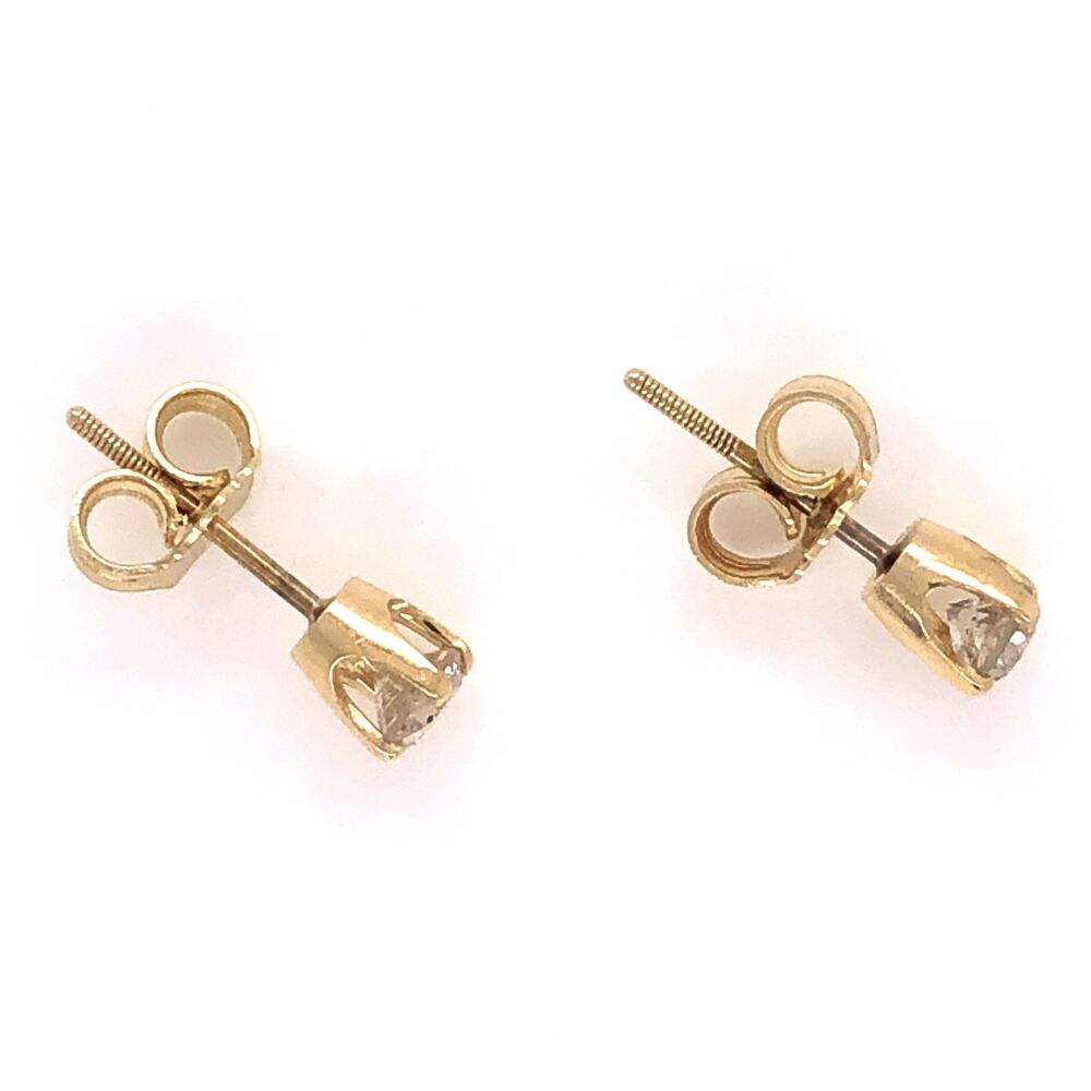 Image 2 for 14K Yellow Gold .45tcw Stud Earrings 1.0g, Friction Backs